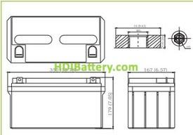 Bateria de Gel 12 Voltios 80 Amperios LVJ80-12 Liven Battery